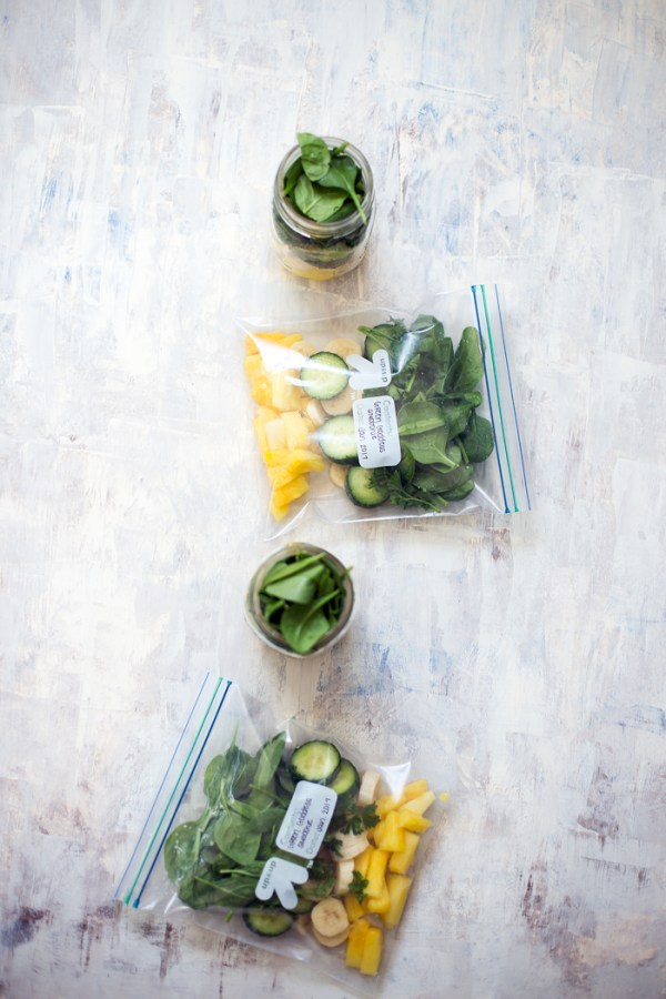 Prep smoothie packs ahead of time for an easy breakfast on busy mornings.