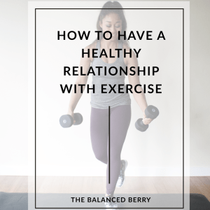 How to Have a Healthy Relationship with Exercise