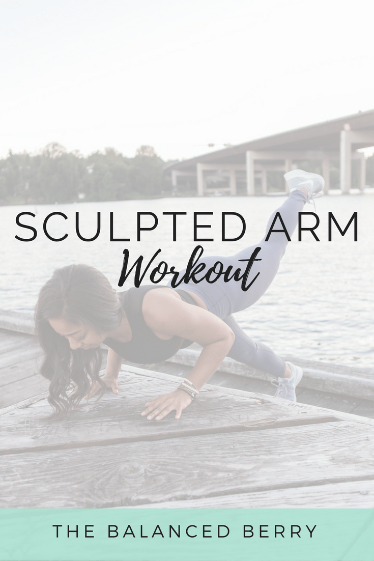 This sculpted arm workout will help you build upper body strength and sculpt and tone your arms and shoulders.