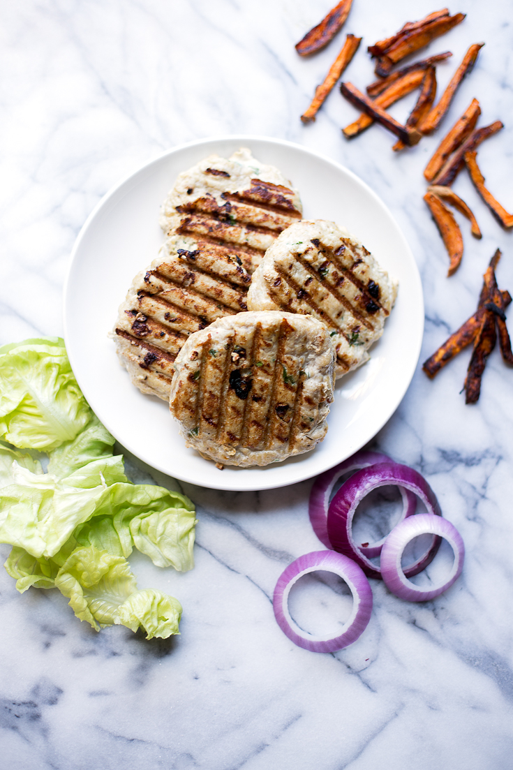 These healthy turkey burgers are the perfect protein for your meal prep! They are flavorful, easy to make and are a total crowd-pleaser.