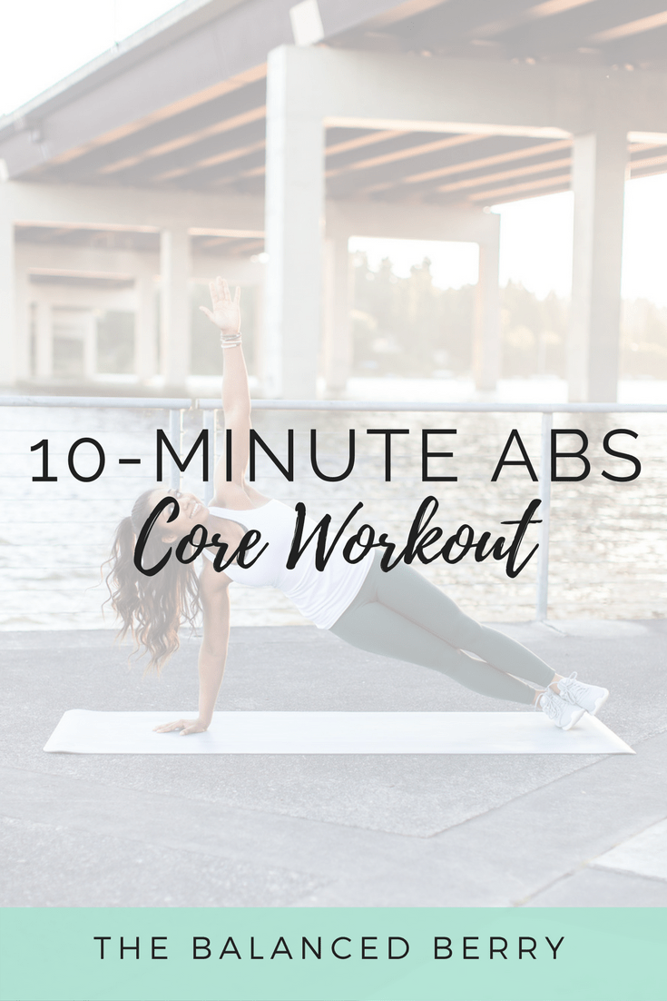This 10-minute routine will strengthen your entire core revealing a toned, refined midsection.