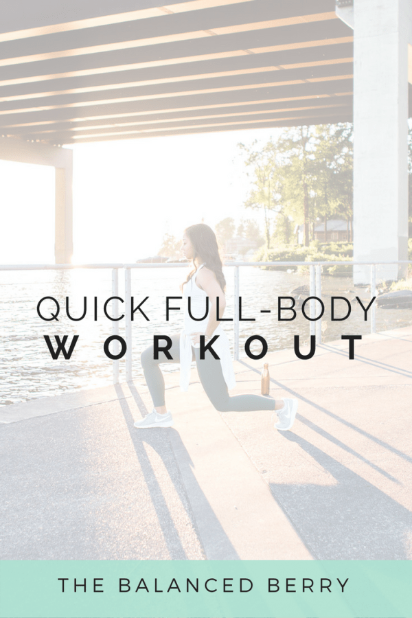This full body workout will work you from head to toe. No equipment needed!