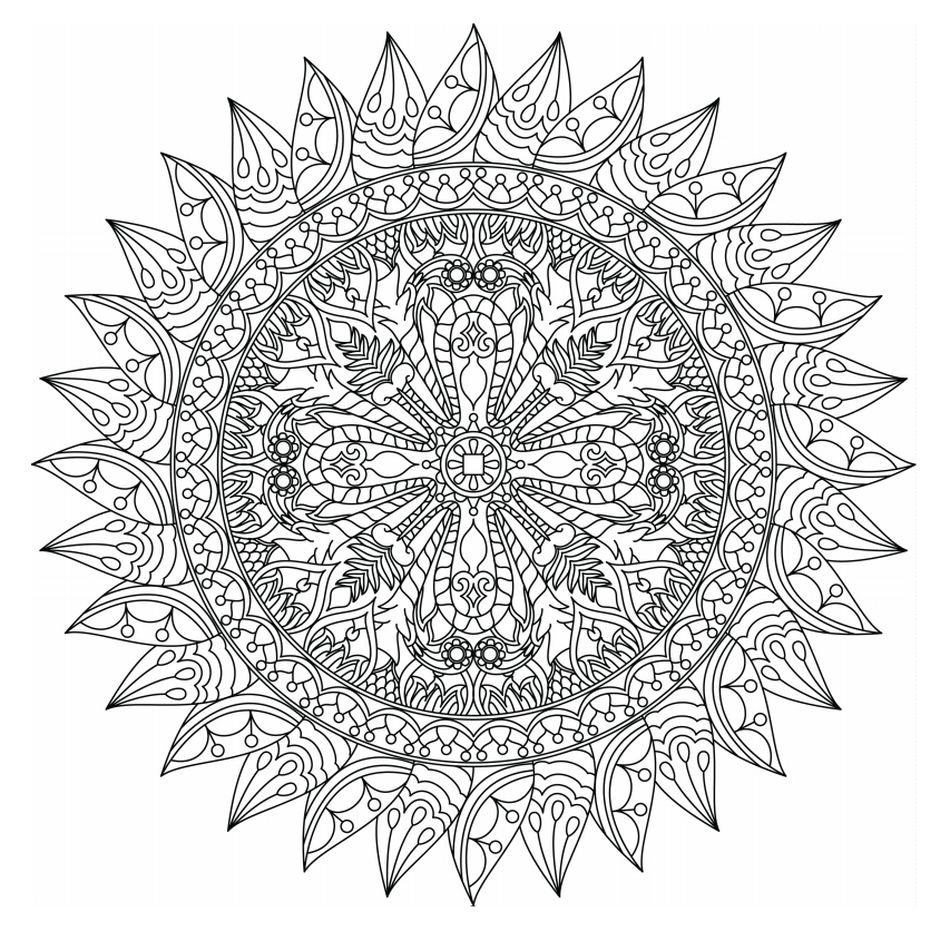 1,075 Free, Printable Mandala Coloring Pages for Adults | free printable mandala colouring pages for adults