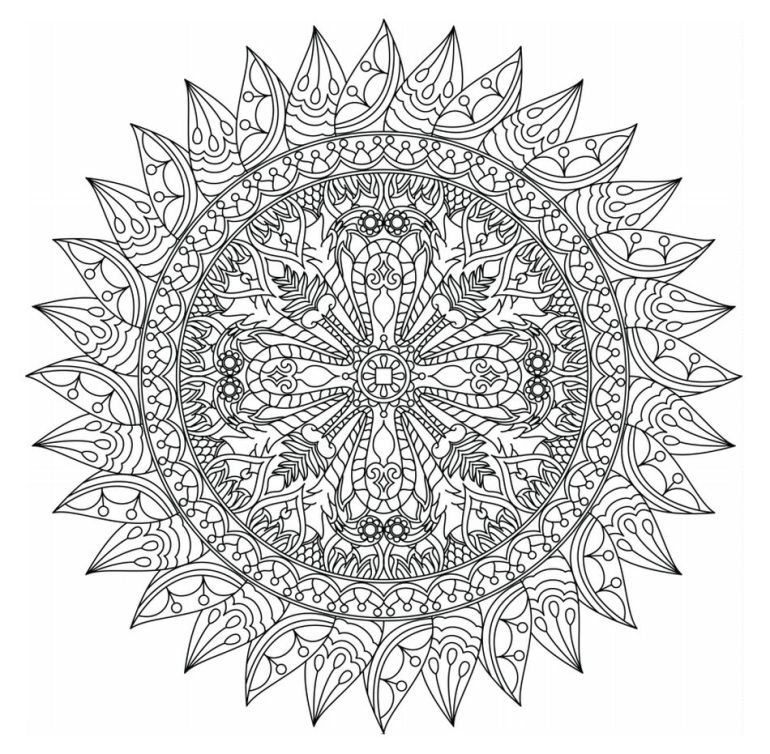 1,075 Free, Printable Mandala Coloring Pages for Adults | free printable mandala coloring pages for adults