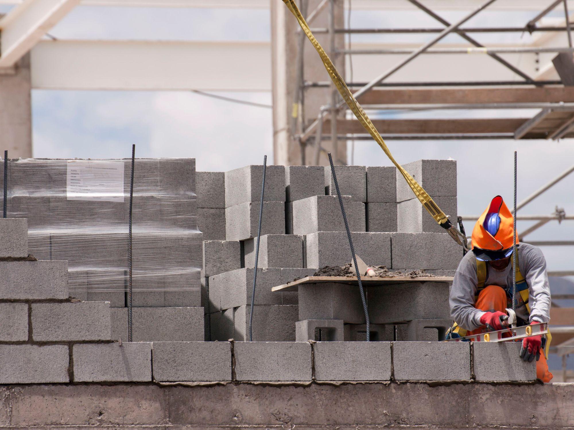 hight resolution of cement block foundation diagram