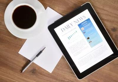 Digital Tablet PC With News On Desk (XXXL)