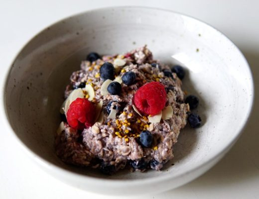 Raspberry and Blueberry Overnight Oats