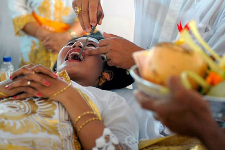 tooth filing ceremony
