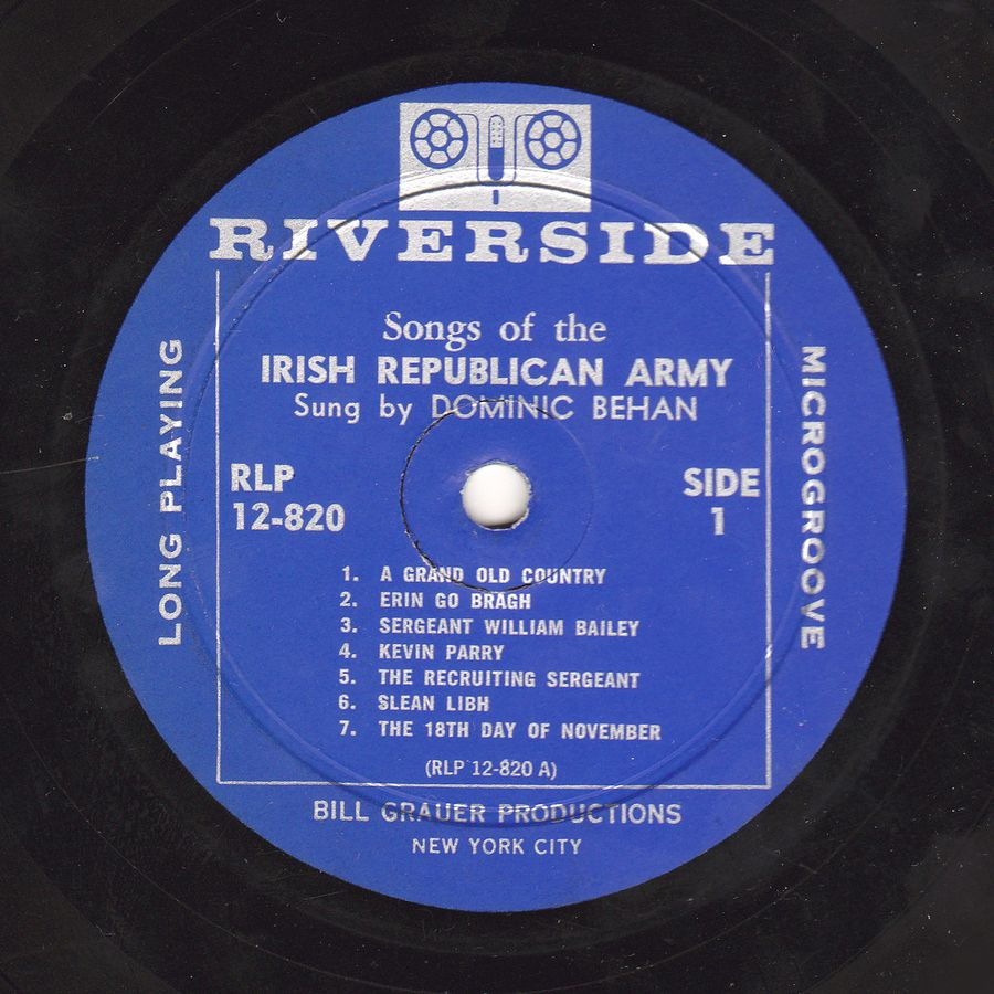 Dominic Behan  Songs of the IRA