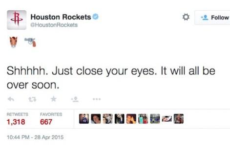 rockets tweet mavs