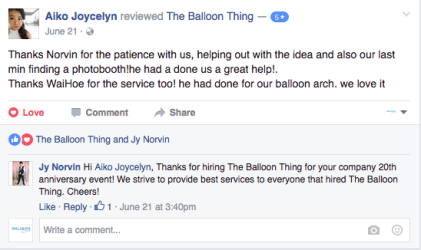 the balloon thing testimonial