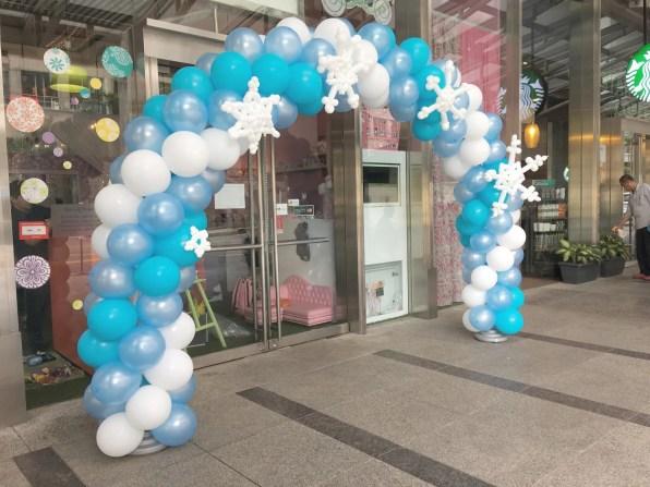 Frozen Theme Balloon Arch