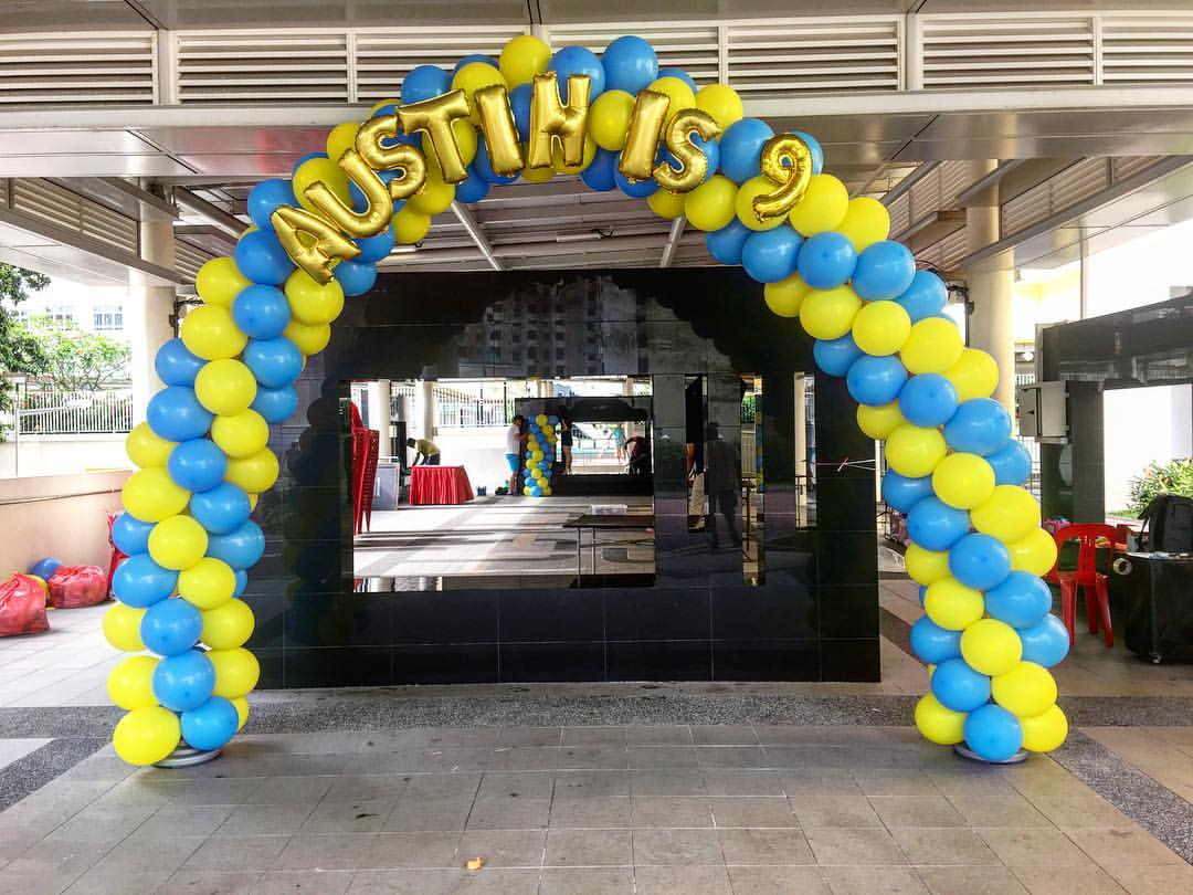 Premium balloon arch decorations in singapore for Arch decoration supplies