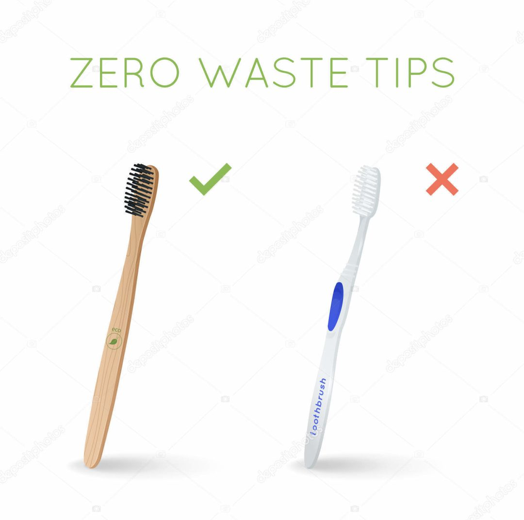 Bamboo toothbrush instead of plastic toothbrush. Zero wast tips. ECO and healthy lifestyle. The Bambu shop, Bamboo Products online