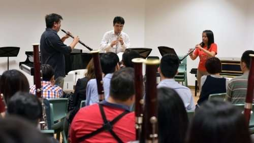 Double Reed Day 2015 at Nanyang Academy of Fine Arts (Tay Kai Tze, Seow Yibin & Leow Rui Qing on the Oboe)