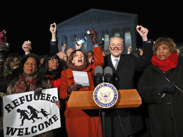"Pelosi, Schumer, Warren Sing Refugee Anthem ""This Land is Their Land"""