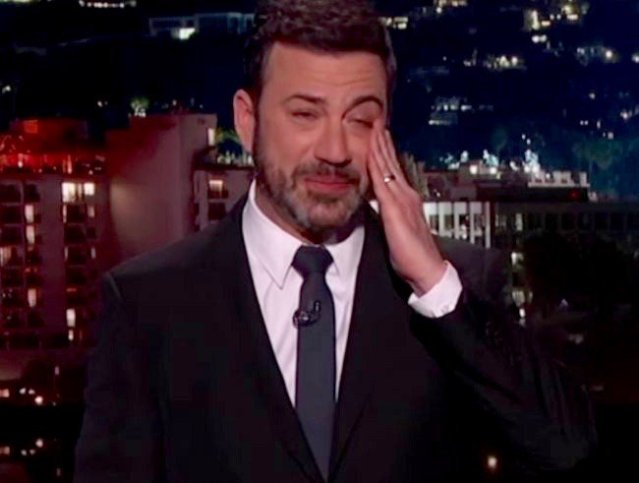 Image result for jimmy kimmel crying