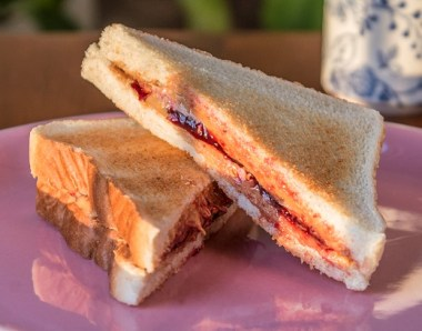 peanut butte and jelly sandwich