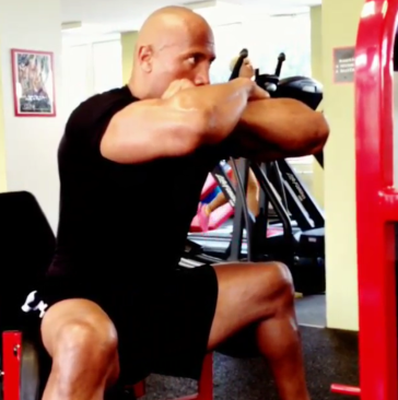 The Rock thigh abduction