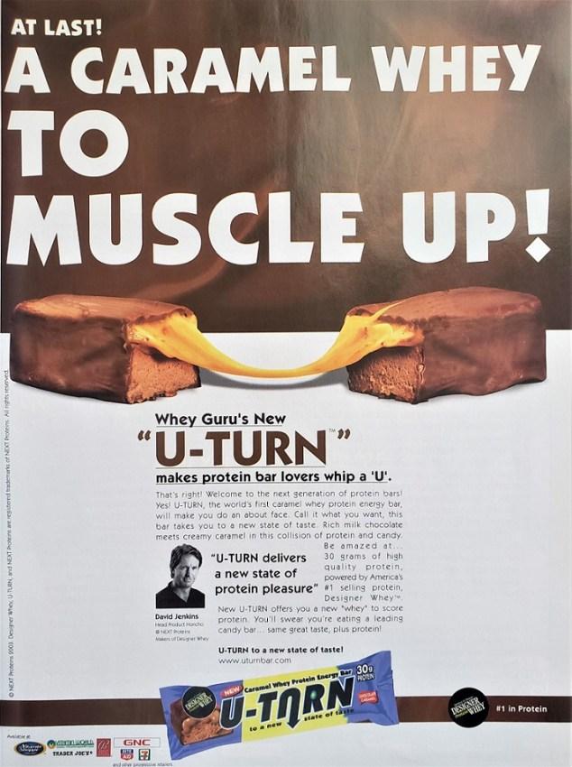 U-Turn protein bar ad 2003