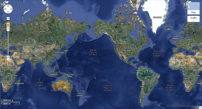 Satellite Map Iceland