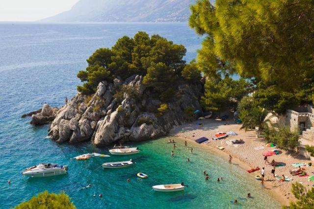 Beach at Brela Croatia