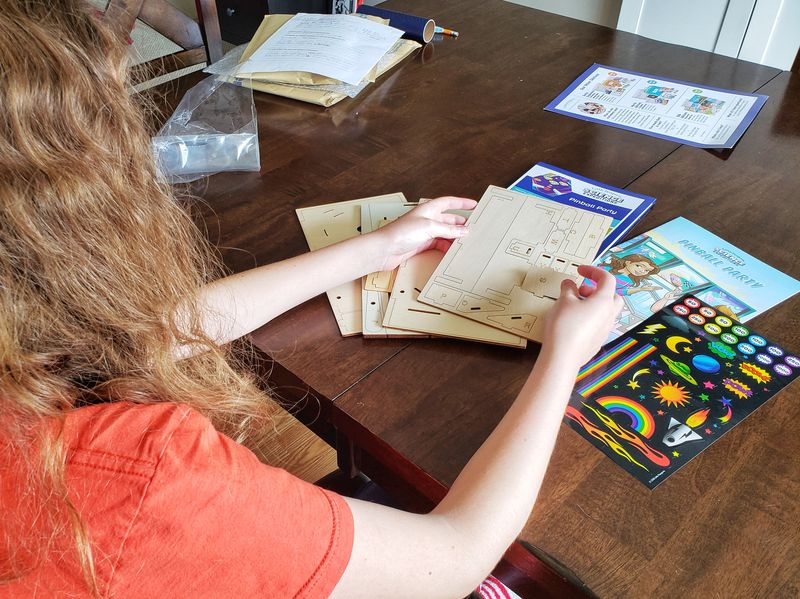 Little Passports review of travel subscription box for kids Science Expeditions Making pinball machine