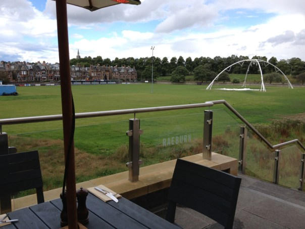 The terrace at The Raeburn will offer a good view of the rugby