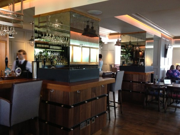 The bar at The Raeburn is still very much new and shiny