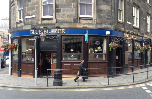 The Blue Blazer sits in the shadow of Edinburgh Castle (far left)
