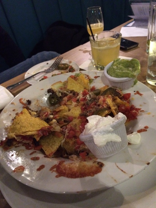 This is as far as we got with the oversized haggis nachos