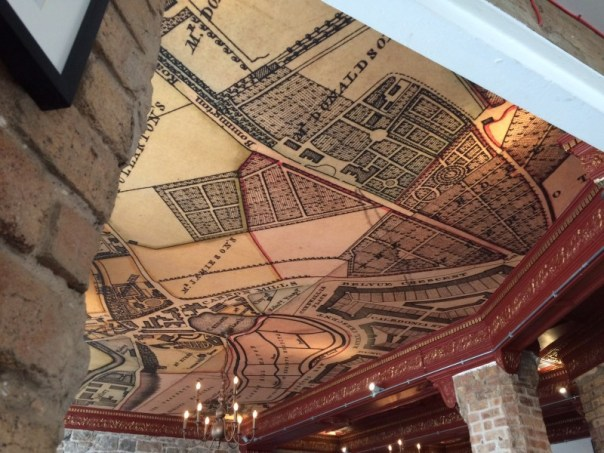 Other Place ceiling with map