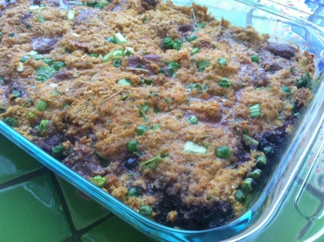 Blueberry Beef Casserole for dogs image