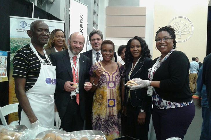 Lamb Burger and cassava bread – a hit at CWA
