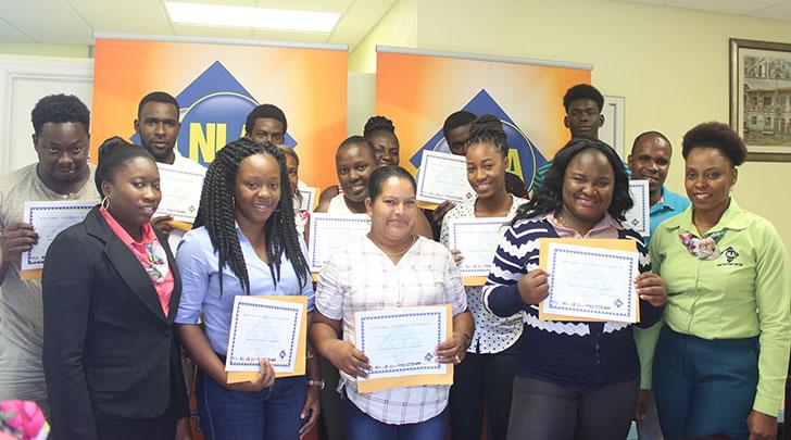 Trainees and Representatives of NLA's Marketing Team