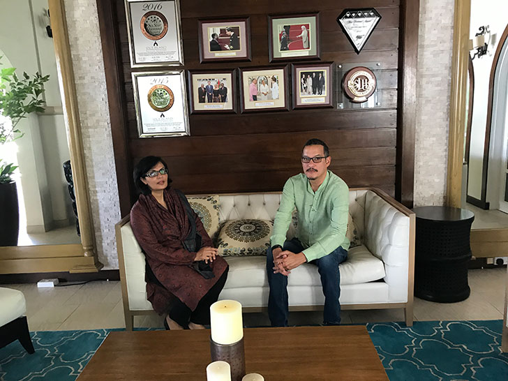 The Hon. Nickolas Steele and Pakistan's former Health Minister Dr. Sania Nishtar