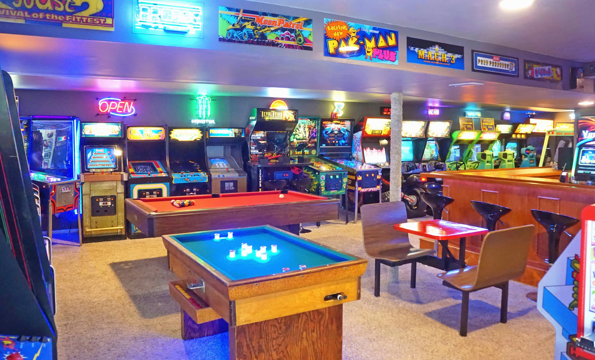 For gamers like me who grew up with arcades, having a game cabinet the basement would have been the ultimate cool toy. The Basement Arcade