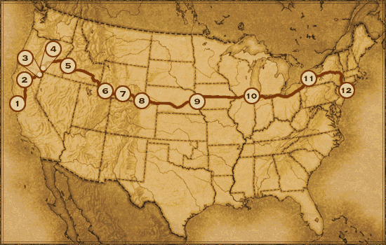 Horatio Nelson Jackson's Road Trip Route