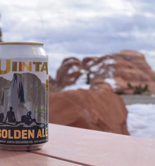 Uinta Brewing Park Series set against the backdrop of Utah's Arches National Park. Ph: Uinta Brewing