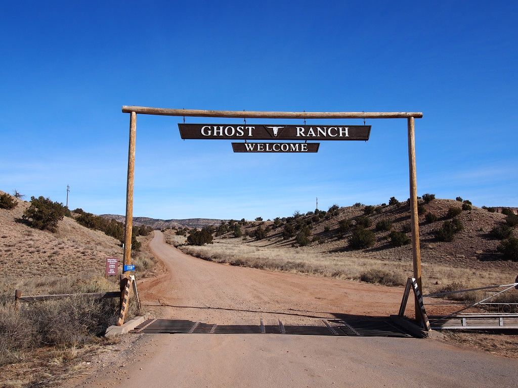 The Entrance to Ghost Ranch, NM.