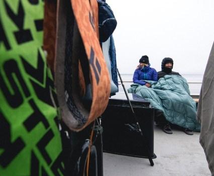 Rumpl Puffy Blanket at Sea