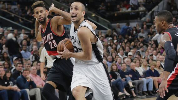 Manu Ginobili out at least a month after testicular surgery