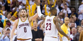 Cleveland's Big Three combined for 71 points in a 116-78 shellacking of the Toronto Raptors