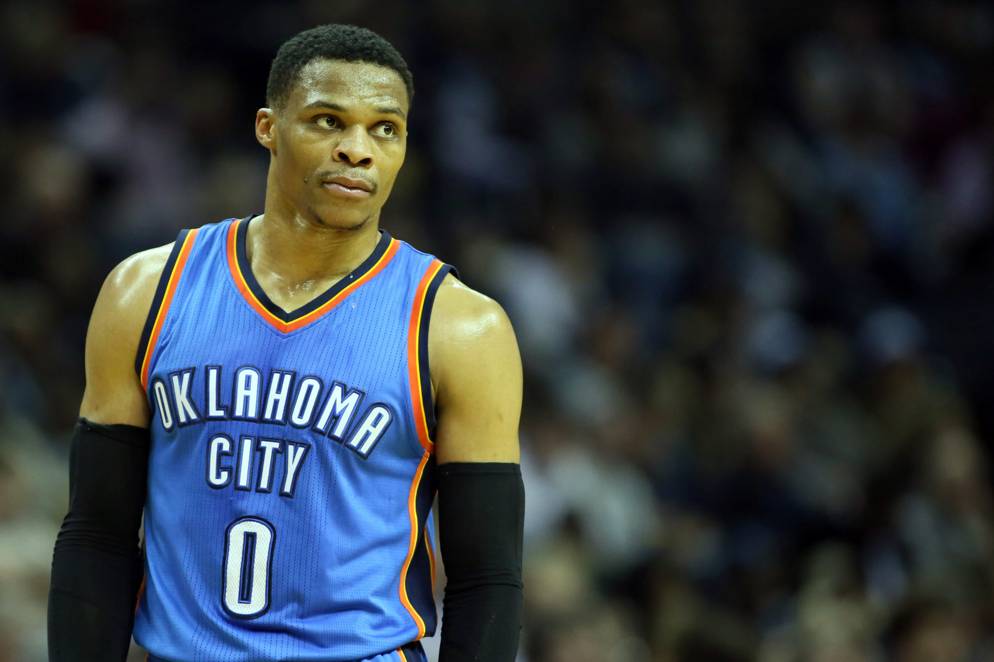 7430b87a833 Watch  Russell Westbrook Throws Ball At Official