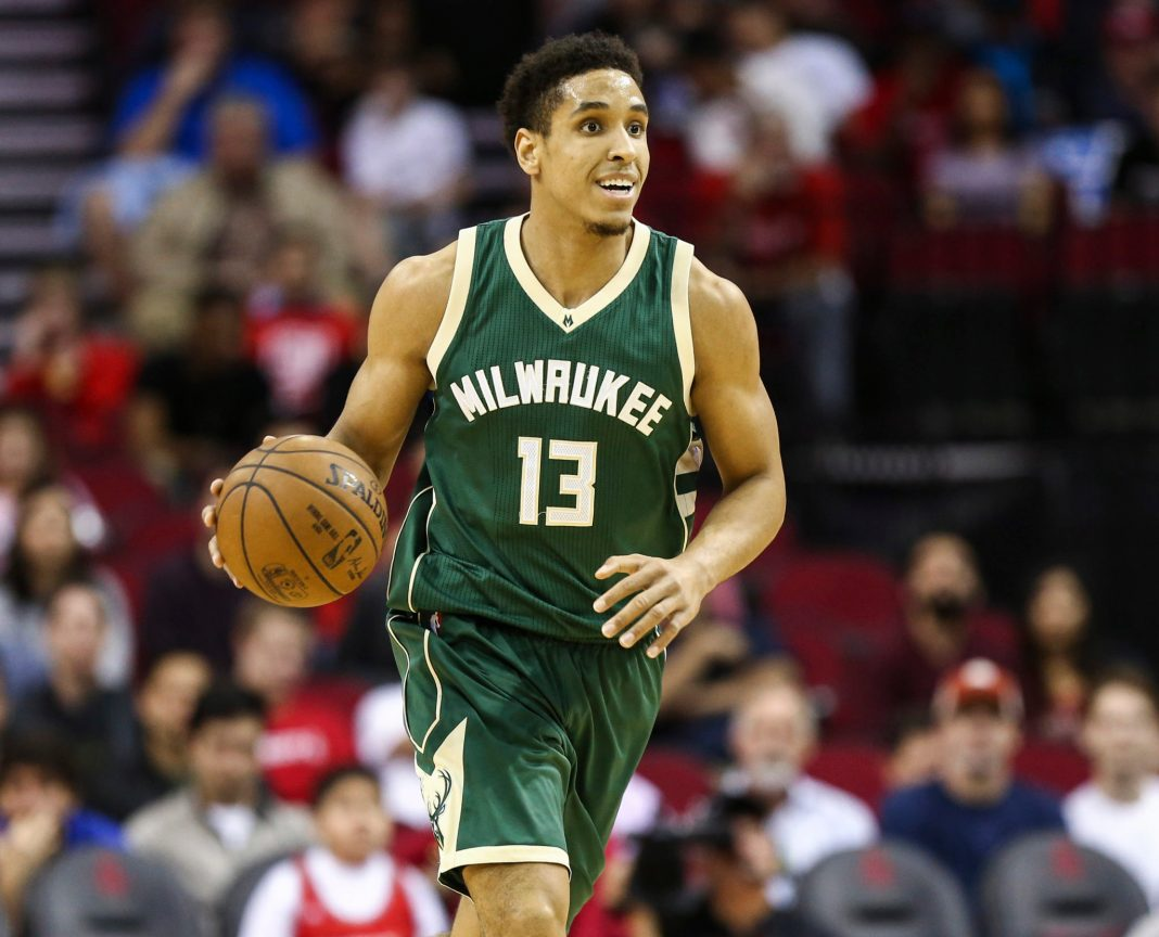 Jan 18, 2017; Houston, TX, USA; Milwaukee Bucks guard Malcolm Brogdon (13) brings the ball up the court during the first quarter against the Houston Rockets at Toyota Center. Mandatory Credit: Troy Taormina-USA TODAY Sports