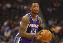 Mar 6, 2017; Denver, CO, USA; Sacramento Kings guard Ben McLemore (23) during the first half against the Denver Nuggets at Pepsi Center. Mandatory Credit: Chris Humphreys-USA TODAY Sports