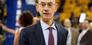 Jun 4, 2017; Oakland, CA, USA; NBA commissioner Adam Silver before game two of the 2017 NBA Finals between the Golden State Warriors and the Cleveland Cavaliers at Oracle Arena. Mandatory Credit: Cary Edmondson-USA TODAY Sports