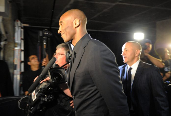 Apr 13, 2016; Los Angeles, CA, USA; Los Angeles Lakers forward Kobe Bryant arrives at Staples Center for a game against the Utah Jazz. Bryant concludes his 20-year NBA career tonight. Mandatory Credit: Gary A. Vasquez-USA TODAY Sports