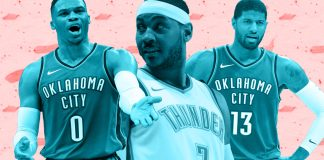 Russell Westbrook, Paul George and Carmelo Anthony have yet to figure things out, and the Oklahoma City Thunder have looked awful because of it. Mandatory Credit: USATSI / TBN Media Illustration