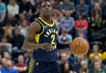 Jan 15, 2018; Salt Lake City, UT, USA; Indiana Pacers guard Darren Collison (2) dribbles the ball during the first quarter against the Utah Jazz at Vivint Smart Home Arena. Mandatory Credit: Russ Isabella-USA TODAY Sports